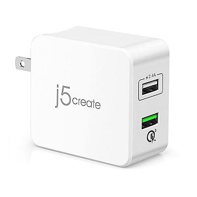 [時時樂限定] j5create 智慧型快速充電器 JUP20 + 二合一充電傳輸線 JML10R  product thumbnail 2