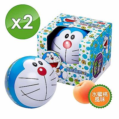 哆啦A夢果凍收納球190g/組(水蜜桃蒟蒻/擠壓式果凍) X2