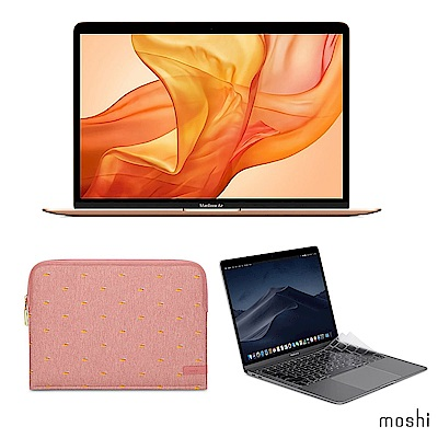 Apple超值組-2019 MacBook Air 256G+Moshi防震內袋+鍵盤膜