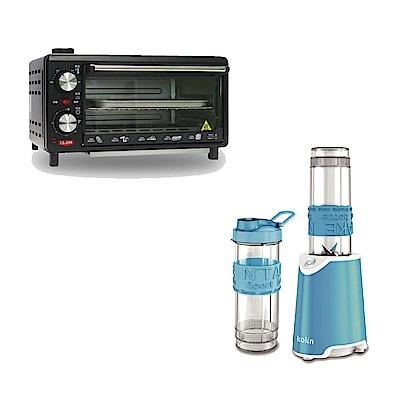 [熱銷推薦]MILEI德國米徠10公升雙旋鈕蒸氣烤箱 MSOV-816 & 歌林隨行杯冰沙果汁機(雙杯藍)KJE-MNR572B