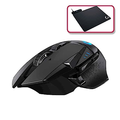 羅技 G502 LIGHTSPEED 無線電競滑鼠+POWERPLAY 無線充電遊戲滑鼠墊