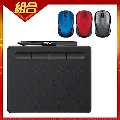 Wacom Intuos Basic 繪圖板CTL4100(黑)+羅技M235無線滑鼠