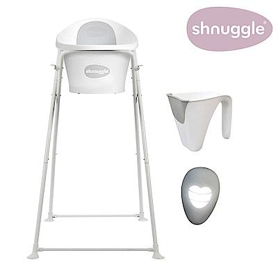 【英國Shnuggle】月亮澡盆四件組-時尚灰-月亮澡盆+專用架U2+小小水瓢+變色溫度計