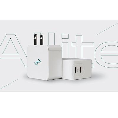 [時時樂限定] Allite 65W GaN 氮化鎵雙口 USB-C 快充充電器+1.5 M液態矽膠充電線USB-C to Lightning product thumbnail 2