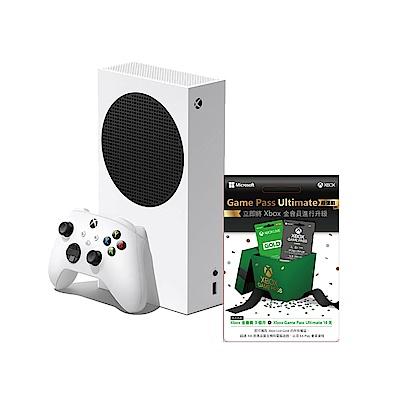 微軟Xbox Series S 512GB遊戲主機(無光碟版)+金會員超值組 三個月實體卡