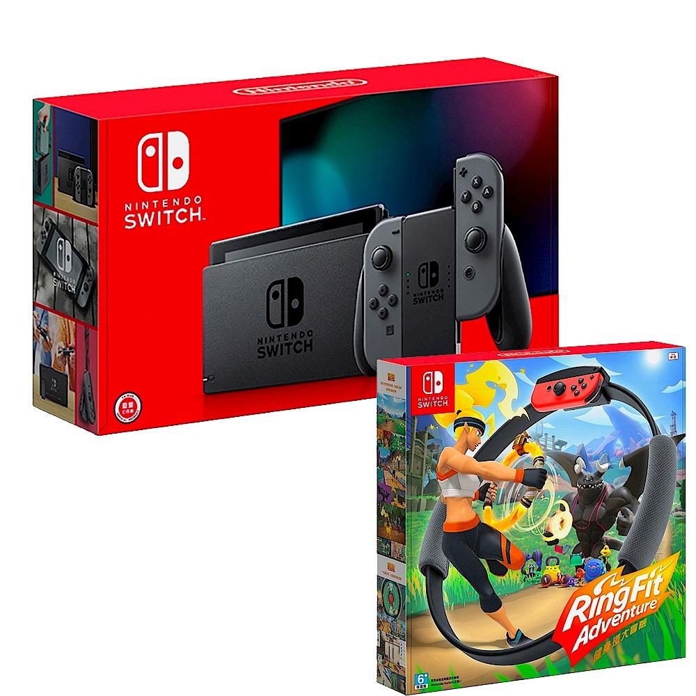 任天堂 Nintendo Switch 新款主機 續航加強版 灰 x 健身環大冒險 product image 1