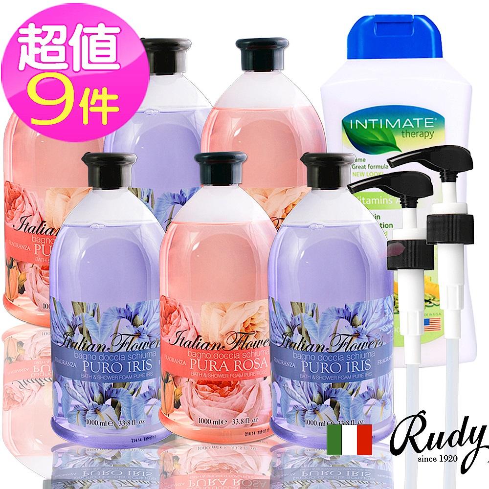 義大利Rudy 花香沐浴露1000ml六入+贈壓頭*2+保濕乳液5 product image 1