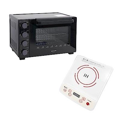 [熱銷推薦]Panasonic國際牌32L雙溫控/發酵烤箱 NB-H3202 & KOLIN歌林微電腦定時電磁爐 CS-SJ006