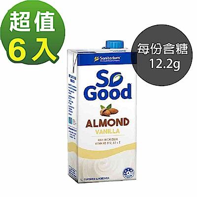 [澳洲 SO GOOD] 香草風味杏仁奶 (1000ml/瓶)6入組