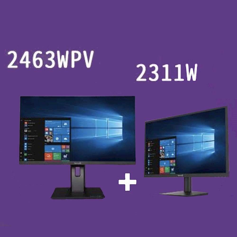 超值組 Terra 23型IPS廣視角電腦螢幕 2311w+24型PLS廣視角電腦螢幕 2463WPV product image 1