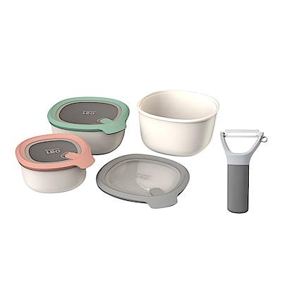 (組)[送削皮刀]【BergHOFF 焙高福】李奧矽列-Leo 多功能保鮮碗3件組(粉色、綠色、灰色) product thumbnail 2