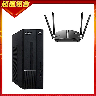 Acer XC-875 雙核桌上型電腦(G5900/8G/256G/Win10h)+D-Link DIR-1360 AC1300 無線路由器組合