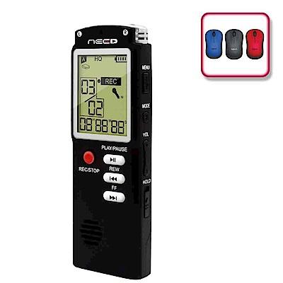 (震旦+羅技)NEED尼德 8GB學習型數位錄音筆 + 羅技 M221靜音無線滑鼠