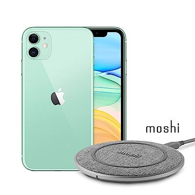 Apple超值組- iPhone 11 256G 智慧型手機+Moshi 10W無線充電盤