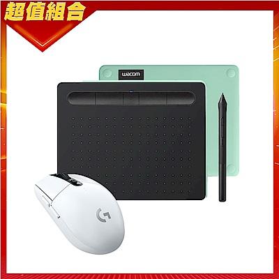 【動漫達人包】Wacom Intuos Comfort Small 藍牙繪圖板(綠)+羅技 G304無線電競滑鼠