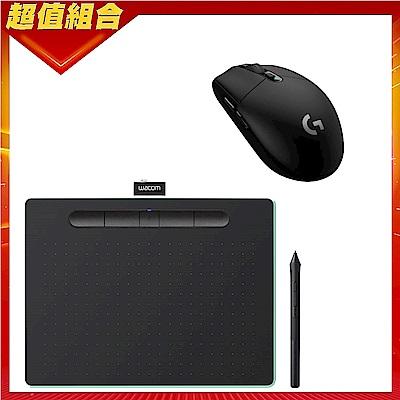 (送羅技G304滑鼠)Wacom Intuos Comfort Plus Medium 繪圖板 (藍芽版)