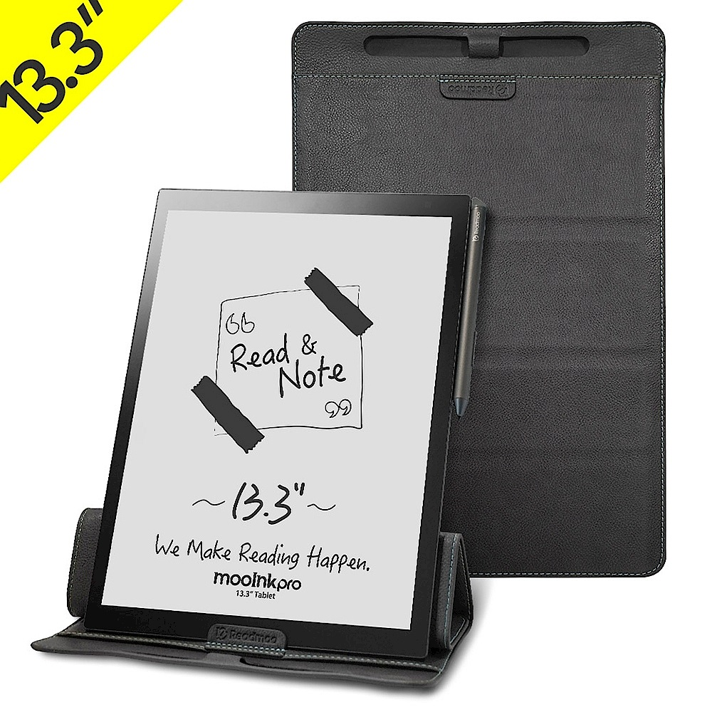 [組合] Readmoo 讀墨 mooInk Pro 13.3吋電子書閱讀器+原廠折疊保護皮套 product image 1