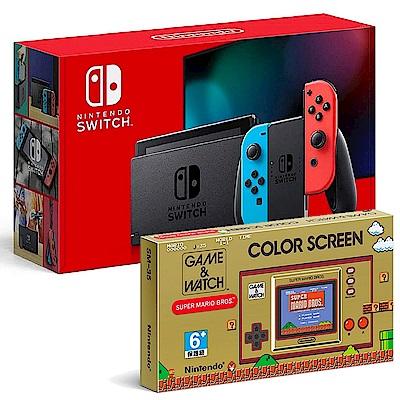 [滿件出貨]任天堂Switch 紅藍主機(國際版)+GW掌機 組合