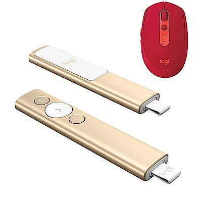 羅技SPOTLIGHT簡報遙控器+M590 多工無線靜音滑鼠