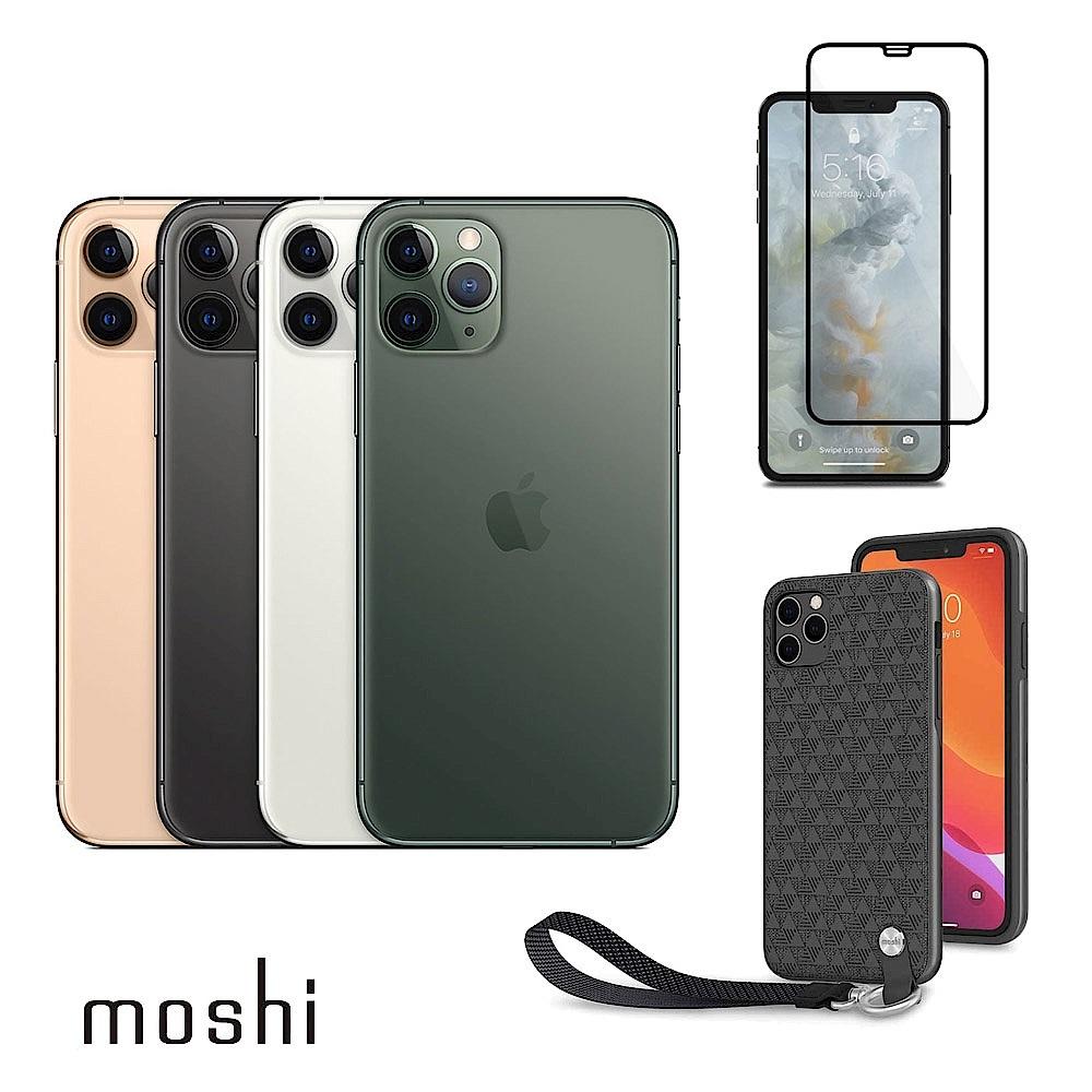 Apple超值組-iPhone11 Pro Max256G+Moshi腕帶保護殼+玻璃保貼