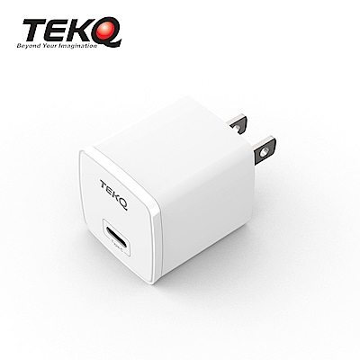 [時時樂限定] TEKQ 20W USB-C PD 快速充電器+TEKQ uCable 蘋果MFi認證 USB-C to Lightning 快充傳輸線 120cm product thumbnail 3