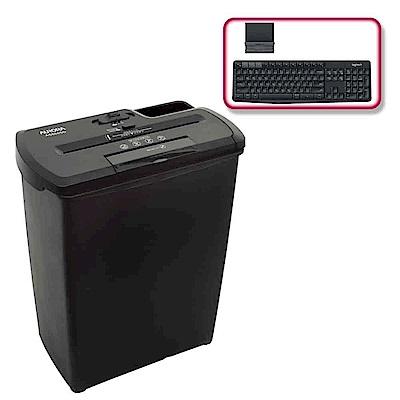(震旦+羅技)震旦行8張直條式碎紙機(AS860SD)+羅技 K375s 無線鍵盤支架組合