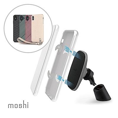 [超值組]Moshi Altra forXS Max 腕帶保護殼+磁吸手機車用支架