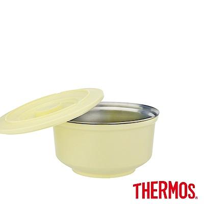(組)[開學季限定1+1]膳魔師 不鏽鋼兩用粉彩隔溫碗1.05L(奶油黃)+不鏽鋼折疊式餐具(叉子) product thumbnail 3