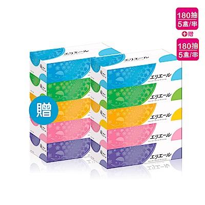[限時搶購](4串組)日本大王elleair 柔膚抽取式面紙(180抽x5盒)