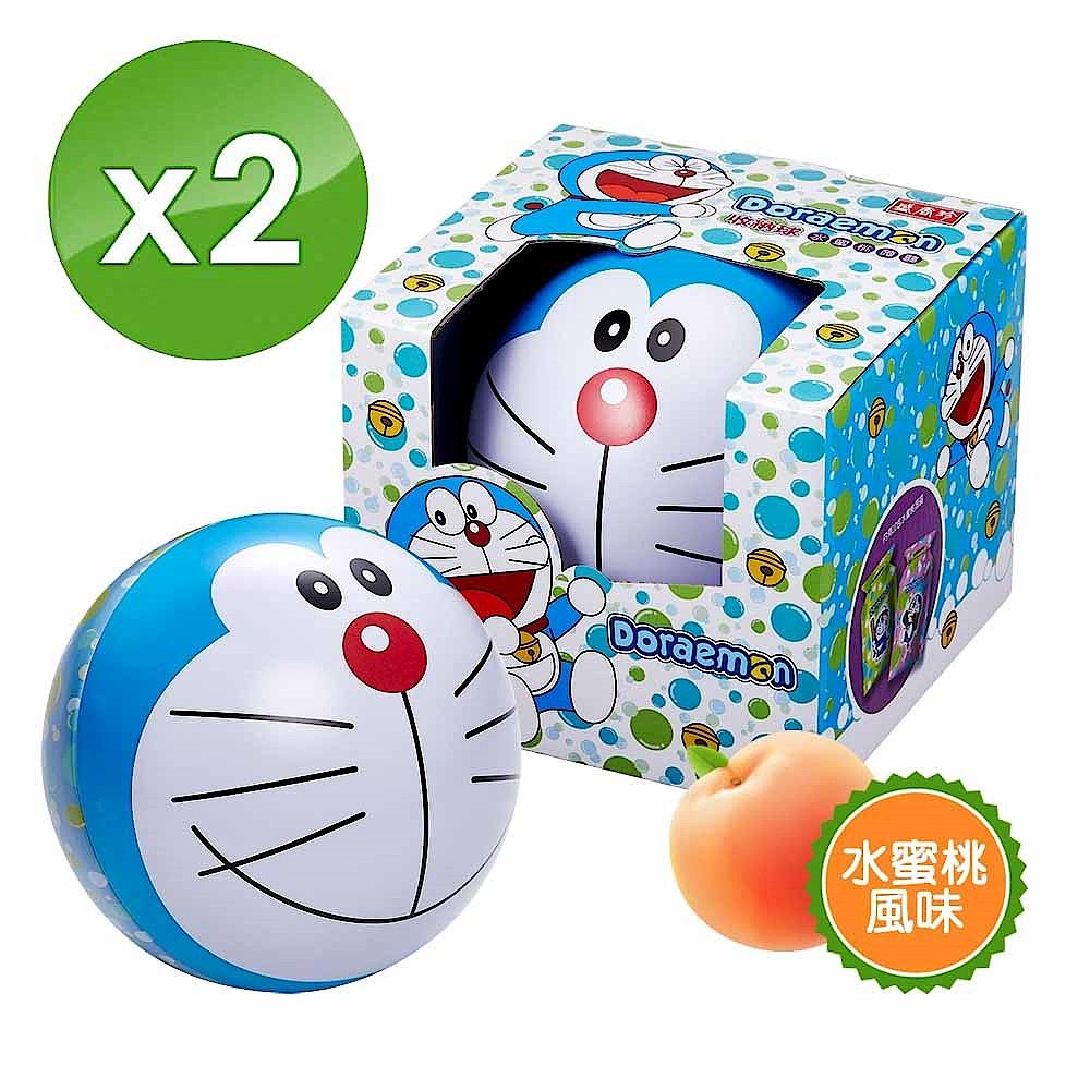 哆啦A夢果凍收納球190g/組(水蜜桃蒟蒻/擠壓式果凍) X2 product image 1