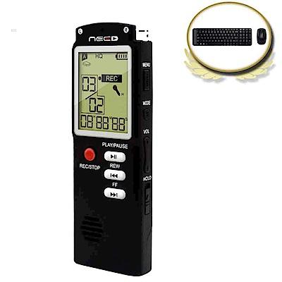 (震旦+羅技)NEED尼德8GB學習型數位錄音筆 + 羅技MK220無線鍵鼠組