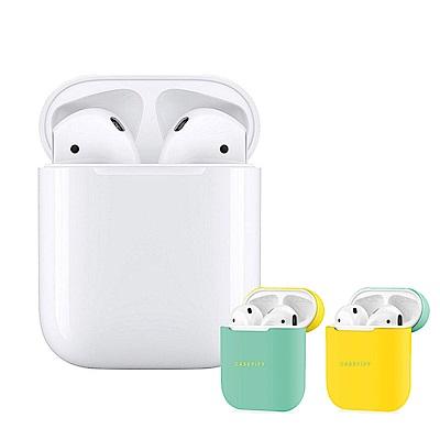 Apple超值組- 2019 AirPods (搭有線充電盒)+Casetify雙色保護殼