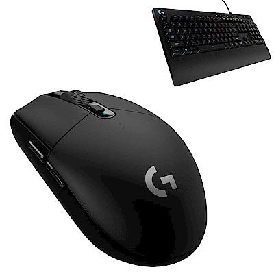 羅技 G304 無線電競滑鼠+G213 RGB電競有線鍵盤