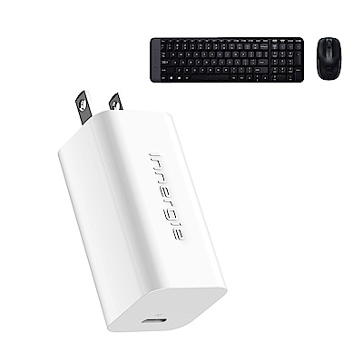 [時時樂] Innergie  60瓦 USB-C 筆電充電器+羅技MK220無線鍵鼠組