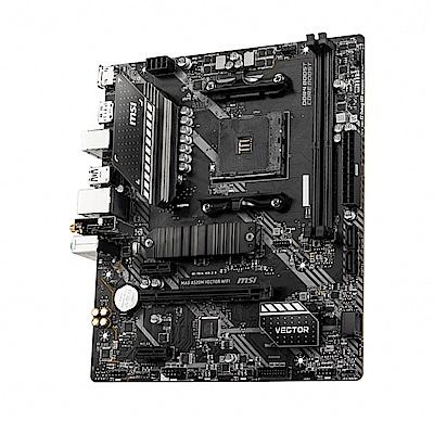 (A520+R5 3600) MSI微星 MAG A520M VECTOR WIFI 主機板 + AMD Ryzen 5 3600 3.6GHz 六核心 中央處理器