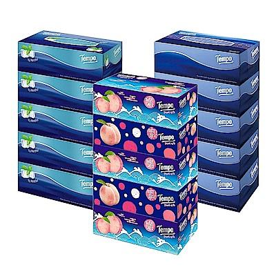 (買一串送一串)Tempo三層盒裝面紙86抽x5盒/串(種類可選)