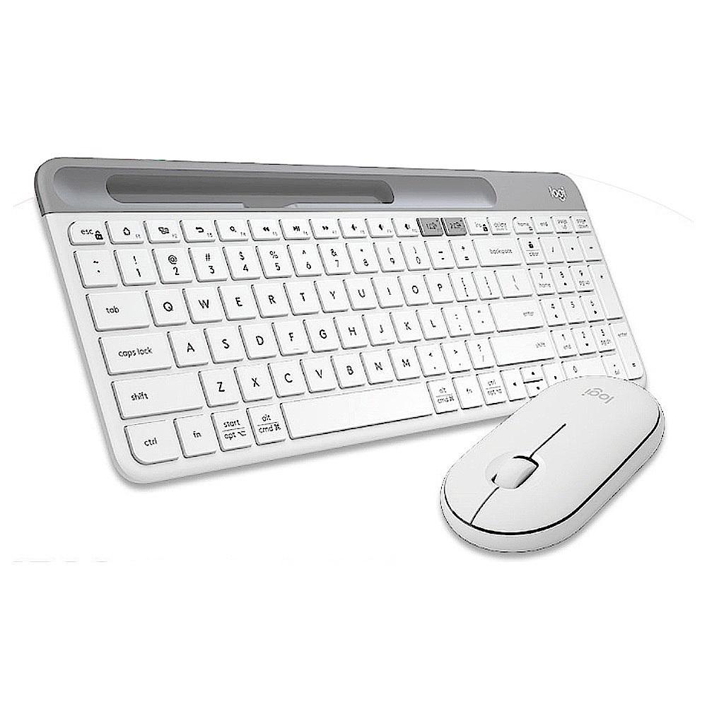 羅技M350鵝卵石無線滑鼠+K580超薄跨平台藍芽鍵盤 product image 1