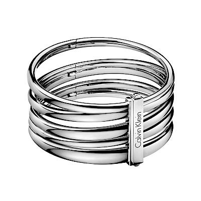 CLUSE Le Couronnement加冕系列(玫瑰金框/白錶面/粉色皮錶帶)33mm + CK 寬版銀色手環 product thumbnail 4