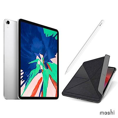Apple超值組-iPadProLTE512G+Moshi保護套+Apple Pencil
