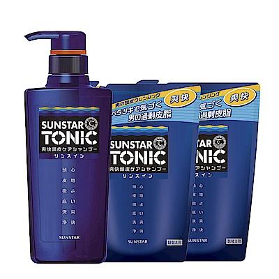 TONIC 爽快頭皮雙效合一洗髮精 1瓶2補