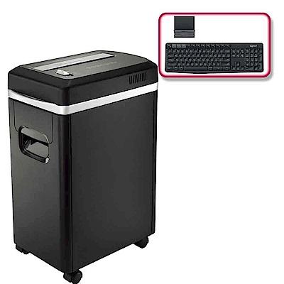 (震旦+羅技)震旦 8張細碎式超靜音碎紙機AS890MQ+羅技 K375s 無線鍵盤支架組