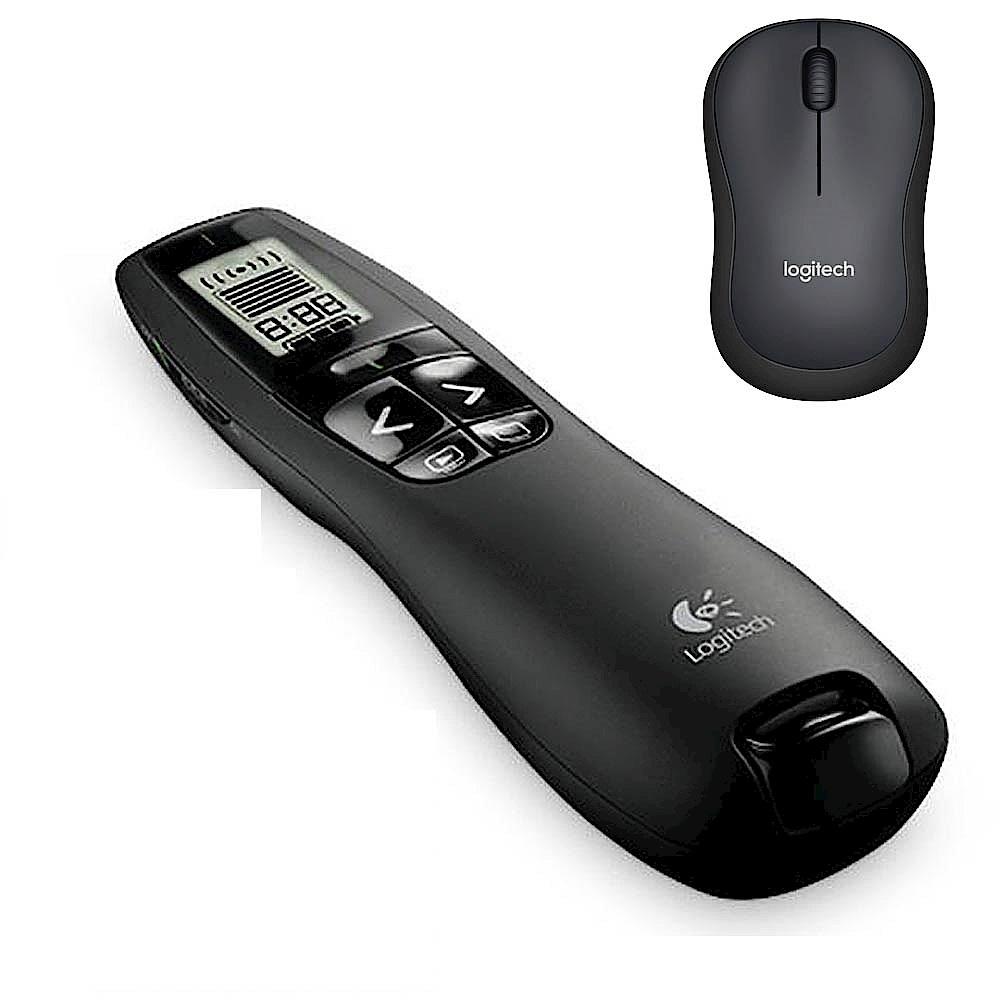 羅技 專業無線簡報器 R800+M221靜音無線滑鼠