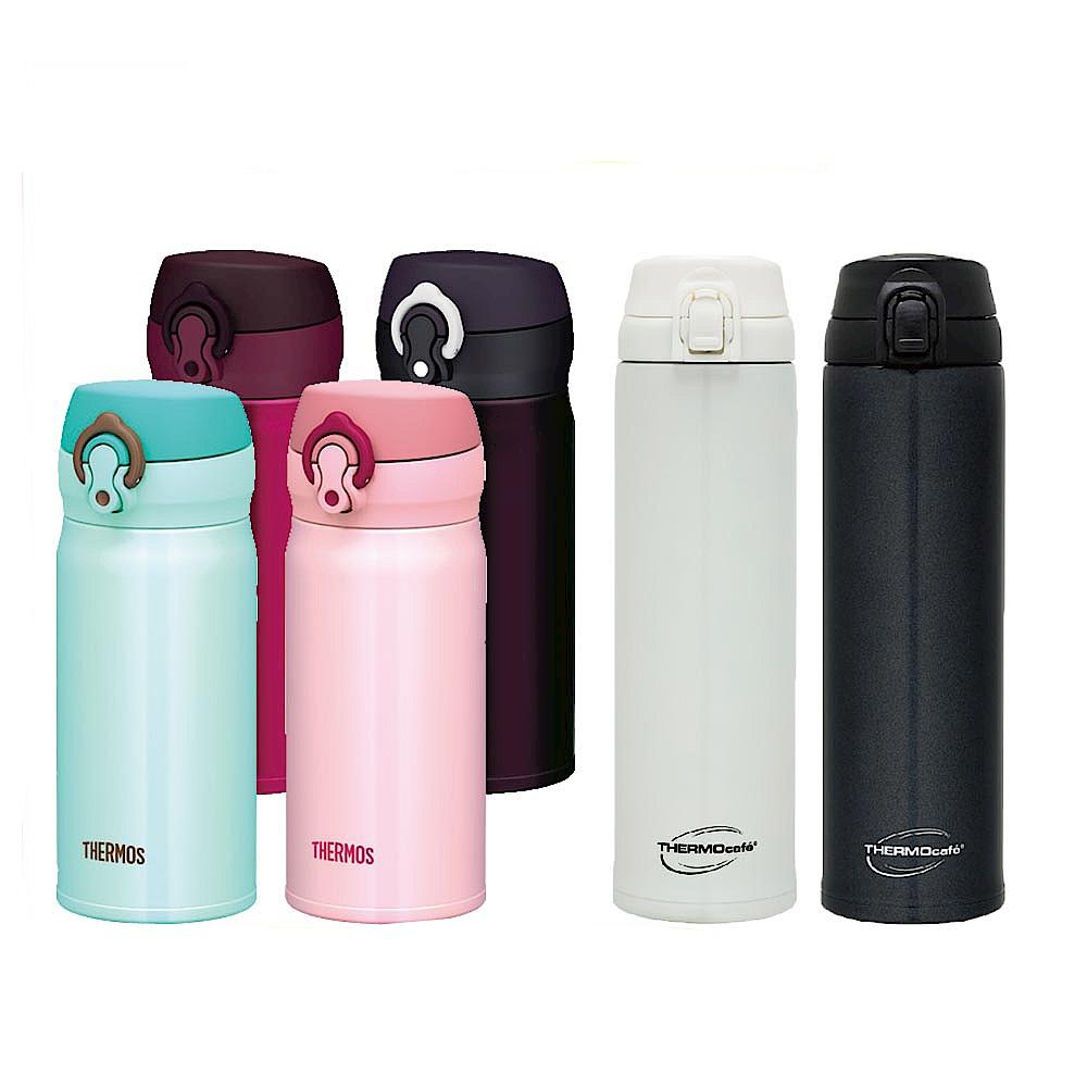 [時時樂-品牌日]膳魔師不鏽鋼真空保溫瓶0.35L+凱菲彈蓋瓶0.6L