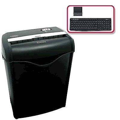 (震旦+羅技)震旦6張碎斷式碎紙機(AS682C)+羅技 K375s 無線鍵盤支架組合