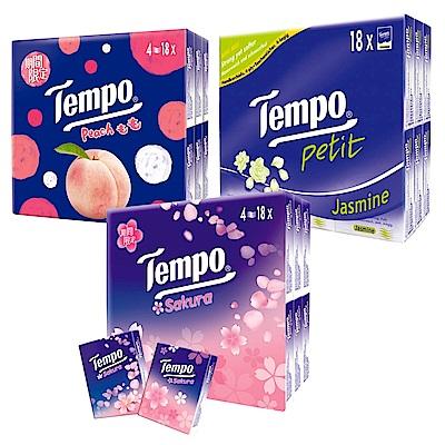 Tempo紙手帕 7抽x18包/組x3組(種類可選)