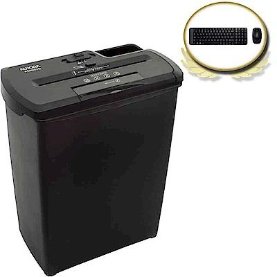 (震旦+羅技)震旦行8張直條式碎紙機AS860SD + 羅技MK220無線鍵鼠組