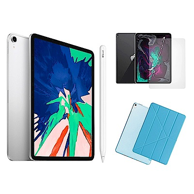 Apple超值組-iPadPro 512GB+Apple Pencil+玻璃貼+皮套
