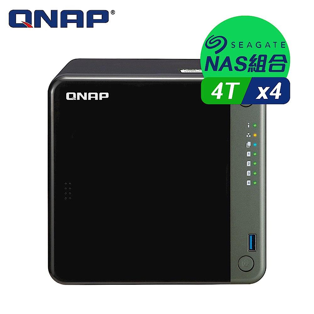 【NAS組合】Seagate 4TB 4入組 NAS硬碟(ST4000VN008)+ QNAP TS-453D-4G 網路儲存伺服器 product image 1