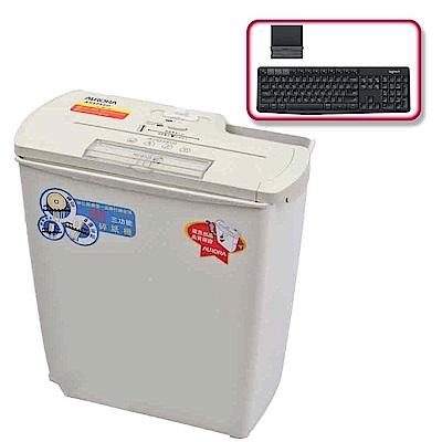 (震旦+羅技)震旦行8張直條式碎紙機(AS828SD)+羅技 K375s 無線鍵盤支架組合