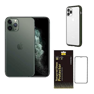 Apple超值組-iPhone 11 Pro Max 64G+犀牛盾邊框背蓋殼+滿版玻璃貼